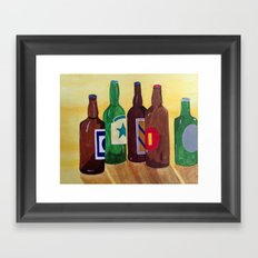 Its 5 o'clock somewhere... Framed Art Print
