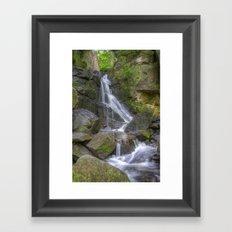 Lumsdale waterfall Framed Art Print