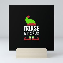 Christmas Nurse, Chillin w my snowmies Mini Art Print
