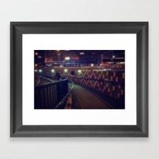 Subway at night Framed Art Print