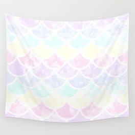 pastel mermaid Wall Tapestry