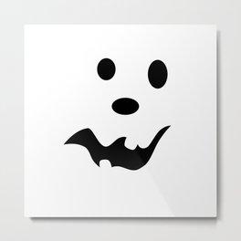 Scared Jack O'Lantern Face Metal Print