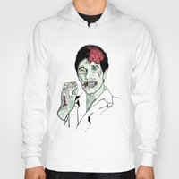 scarface Hoodies featuring Zombie Al Pacino Scarface  by Jane Hazlewood