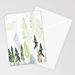 Into the woods woodland scene Stationery Cards