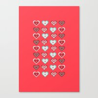 valentine Canvas Prints featuring Valentine by Heaven7