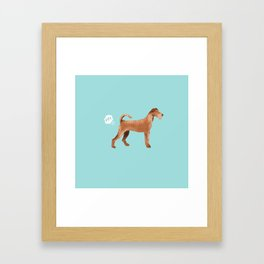 Irish Terrier farting dog cute funny dog gifts pure breed dogs Framed Art Print