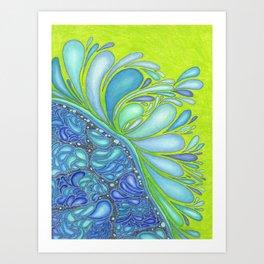 Aqua Splash Art Print