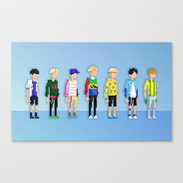 GOT7 8-bit Just Right Canvas Print