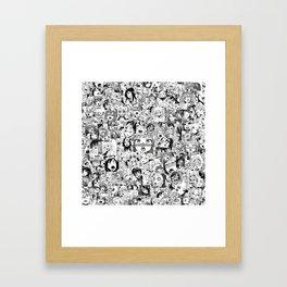 Ahegao classic Framed Art Print