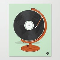record Canvas Prints featuring World Record by Ryder Doty