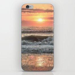 Painted Waves iPhone Skin
