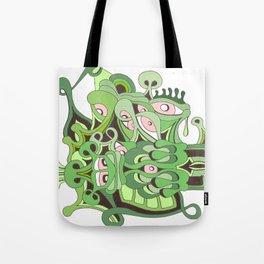reptilian retina Tote Bag