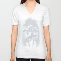 zombies V-neck T-shirts featuring Zombies Inn by nicebleed
