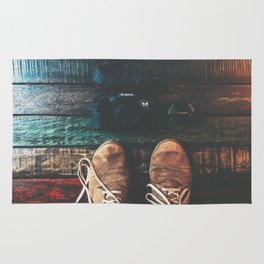 SHOES - CANON - CAMERA - PHOTOGRAPHY Rug