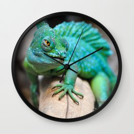 Gecko Reptile Photography Wall Clock