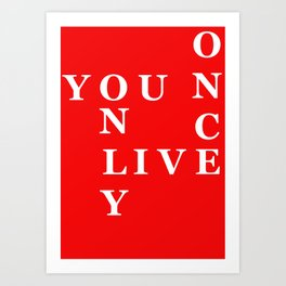 YOLO Red Art Print
