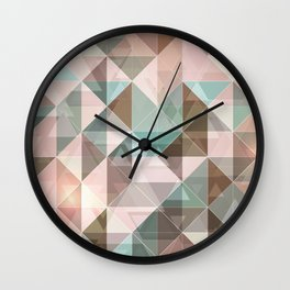 Triangles overlapping colors pattern Wall Clock