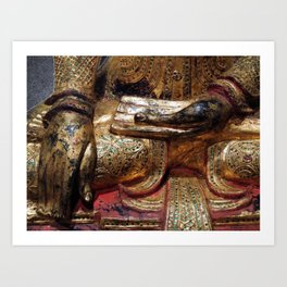 Golden Buddha Hand Mudra Art Print