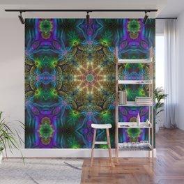 Neon Mandala Wall Mural