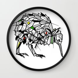 Kiwi Bird Geometric Wall Clock