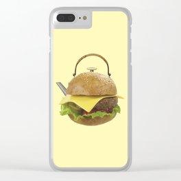 Kettle hamburger Clear iPhone Case