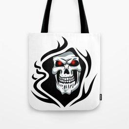 Skull tribal tattoo Tote Bag
