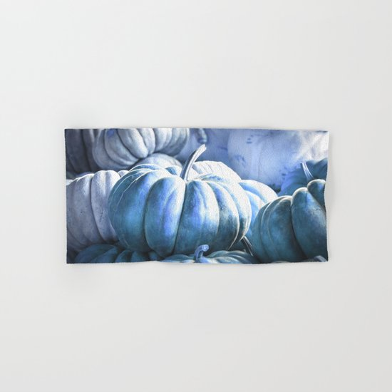 Autumn Pumpkins Blue Hand & Bath Towel