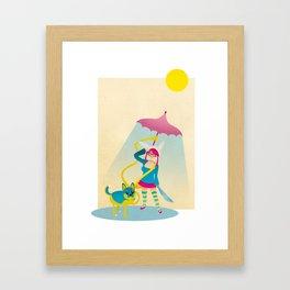 Kaiser the Dog and Melissa the Human Framed Art Print