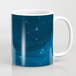 Blue Christmas Eve Snowflakes Winter Holiday Coffee Mug