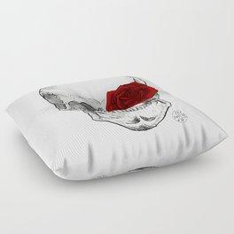 Rose Skull Floor Pillow