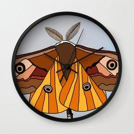Psychedelic Moth Wall Clock