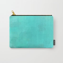 Aqua Turquoise Mosaic Carry-All Pouch