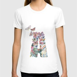 A - fairy tale letter with butterflies and girl T-shirt