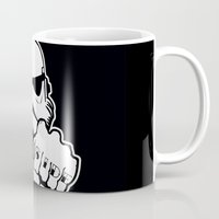 dentist Mugs featuring Dark Side Knuckle by Don Calamari