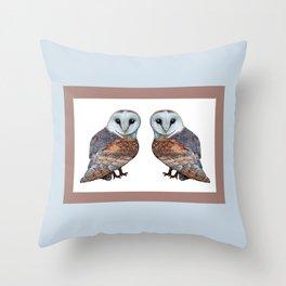 The Owl Collection - Barn Owl Throw Pillow