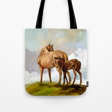 Thoroughbred Mare and Foal Tote Bag