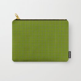 Slime Green and Black Hell Hounds Tooth Check Carry-All Pouch
