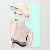 iggy Canvas Prints featuring Iggy Iggy Iggy. Oi Oi Oi. by un'style'dDESIGNS