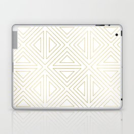 Angled White Gold Laptop & iPad Skin