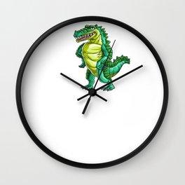 Gators Gonna Gater Alligator Reptile Animal Wall Clock