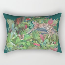 Into the Wild Emerald Forest Rectangular Pillow