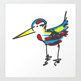Bird sketch Art Print