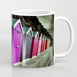 Bournemouth Beach Huts Dorset England Coffee Mug