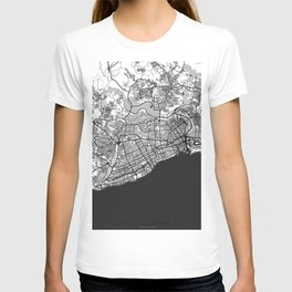 Santo Domingo Map Gray T-shirt