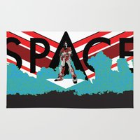 spaceman Area & Throw Rugs featuring Spaceman by Robert Cooper