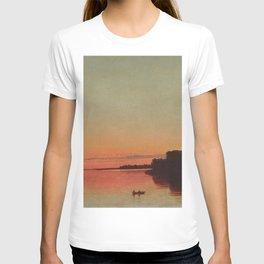 Twilight, Trustom Pond lagoon, Moonstone Beach, South Kingstown coastal Rhode Island landscape painting by John Federick Kensett T-shirt