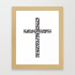 Chrome Crucifix Solid Framed Art Print