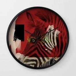Zebra 4.0 Abstract Art Wall Clock