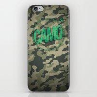 camo iPhone & iPod Skins featuring Camo by GabrieleCigna