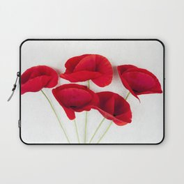 A Bunch Of Red Poppies Laptop Sleeve